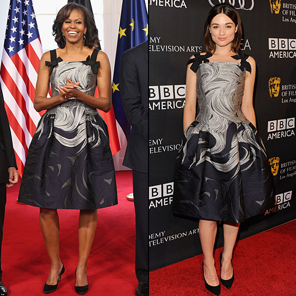 Michelle Obama, Crystal Reed, Dos mujeres