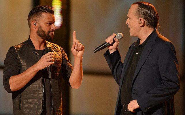 Ricky Martin, Miguel Bosé, Latin Grammy 2013