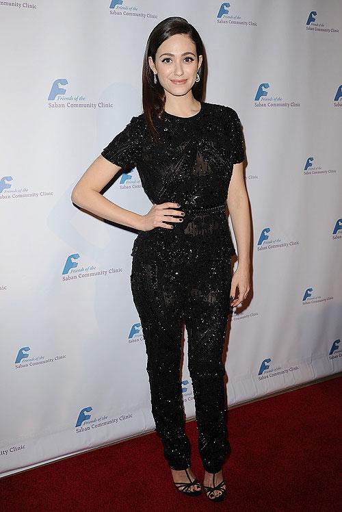 Emmy Rossum, El look del día