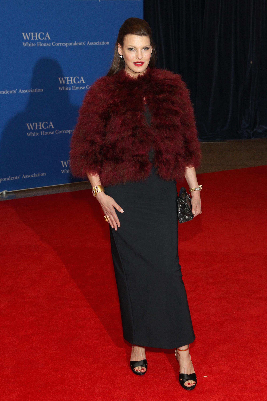 Linda Evangelista, Cena de corresponsales de la Casa Blanca 2014