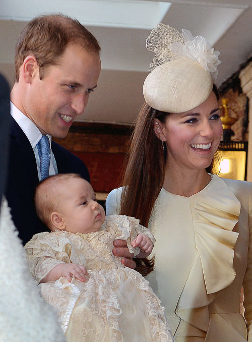 príncipe William, Kate Middleton, príncipe George, Míralos