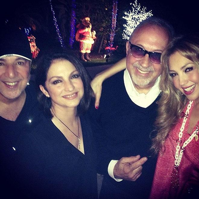 Thalía, Estefan, Tommy Mottola, Navidad, Emilio, Gloria