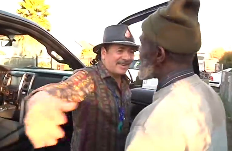 "Carlos Santana, Marcus ""The Magnificent"" Malone"