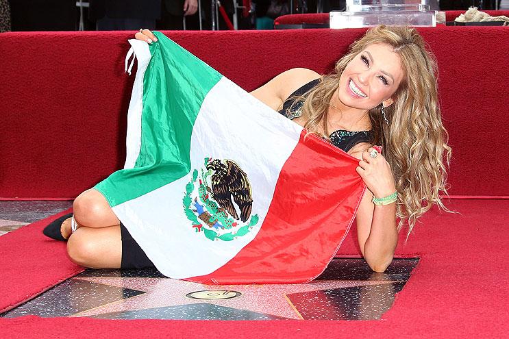 Thalía, estrella Paseo de la Fama