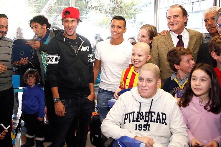 Neymar, Alexis Sánchez, Míralos