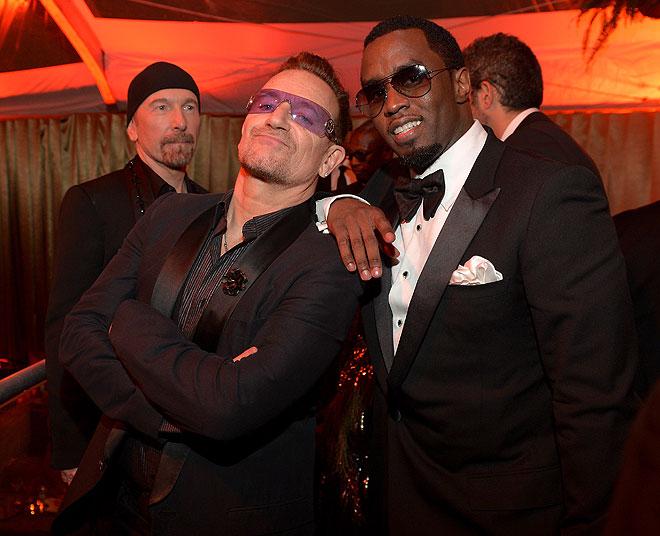 Globos de Oro 2014, fiesta después, Bono, Diddy