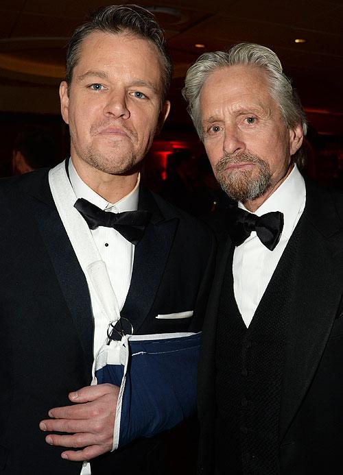 Globos de Oro 2014, fiesta después, Matt Damon, Michael Douglas