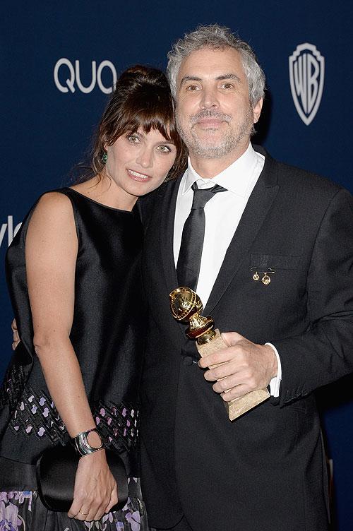 Globos de Oro 2014, fiesta después, Sheherazade Goldsmith, Alfonso Cuarón