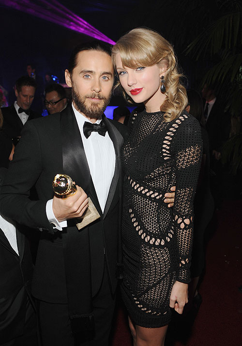 Globos de Oro 2014 fiesta después, Taylor Swift, Jared Leto