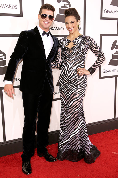 Premios Grammy 2014,Paula Patton, Robin Thicke