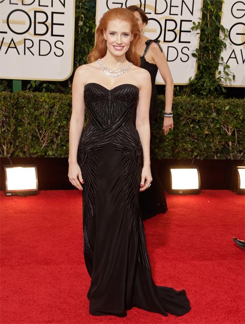 JESSICA CHASTAIN, Golden Globes 2013 Ellas