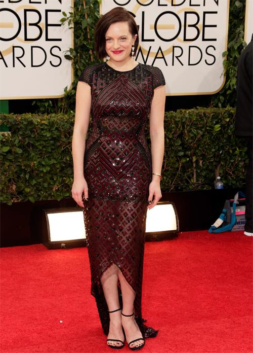 ELISABETH MOSS, Golden Globes 2013 Ellas