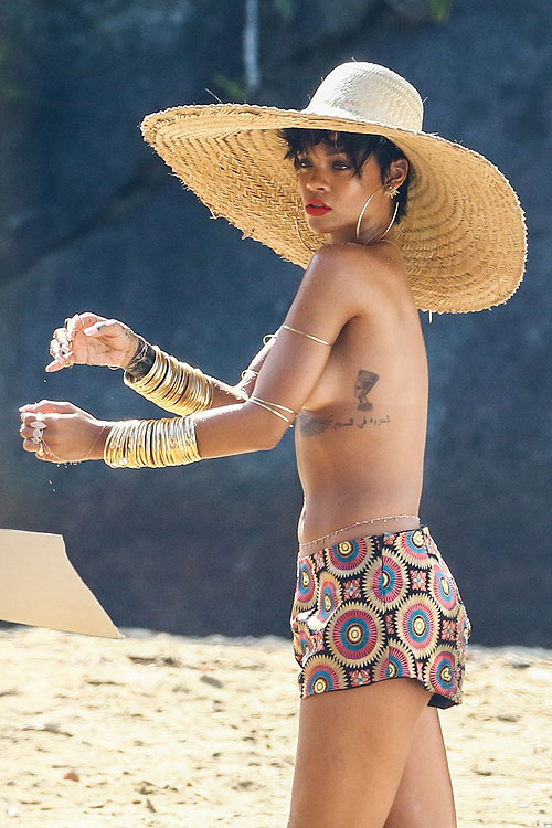 Rihanna, topless en Brasil