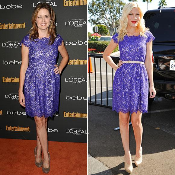 Jenna Fischer, Tori Spelling, Dos mujeres