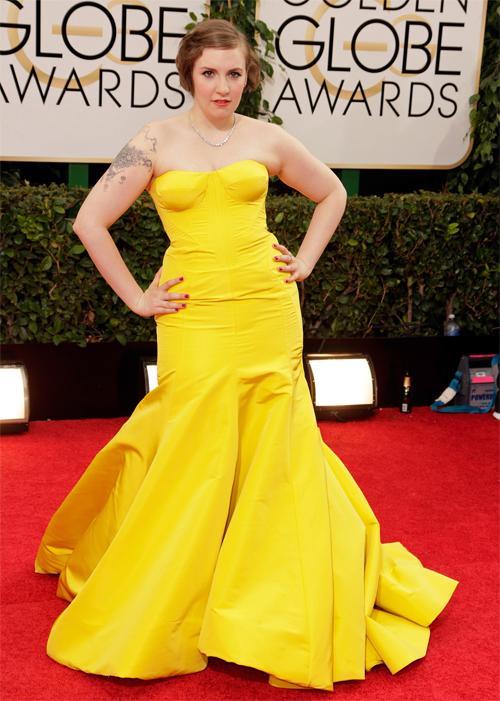 LENA DUNHAM, Golden Globes 2013 Ellas