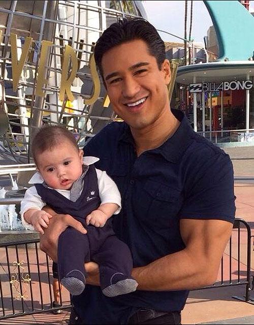 Mario López, Dominic, Bebés en Instagram