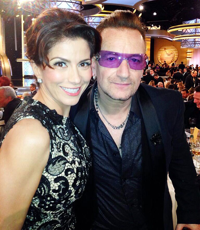 Alessandra Rosaldo, Bono, Golden Globes, Globos de Oro, 2014