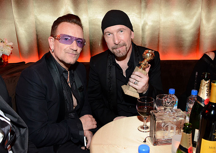 Globos de Oro 2014 fiesta después, Bono, The Edge