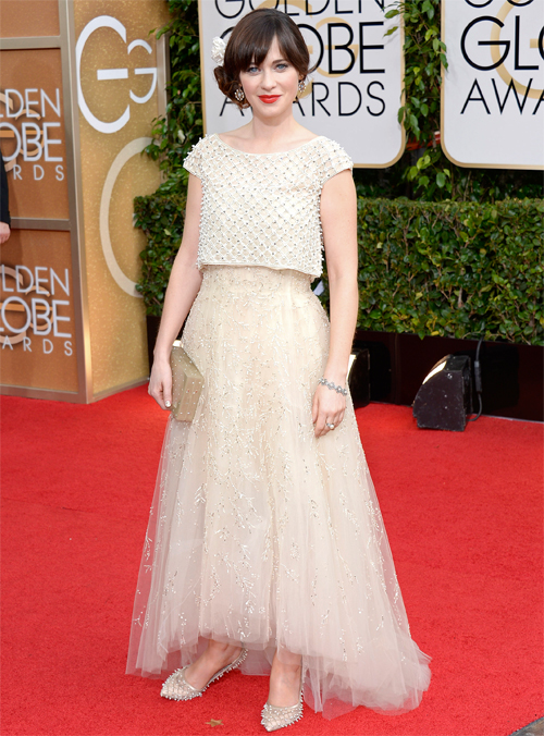 Golden Globes 2013 Ellas, ZOOEY DESCHANEL