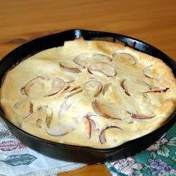Hot cakes de manzana en el horno