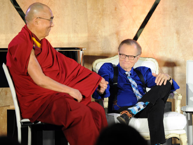 EL DALAI LAMA, LARRY KING