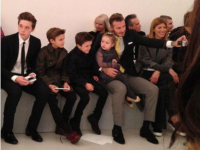 David Beckham, Brooklyn, Romeo, Cruz y Harper