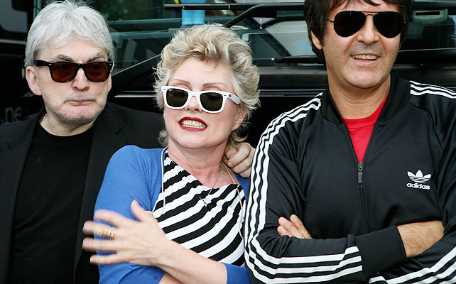 Debbie Harry, Chris Stein, Clem Burke.