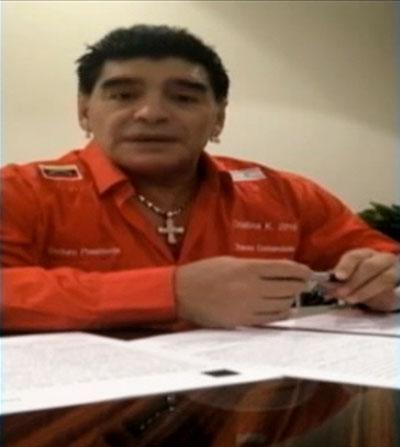Diego Maradona, apoya, Venezuela, Telesur