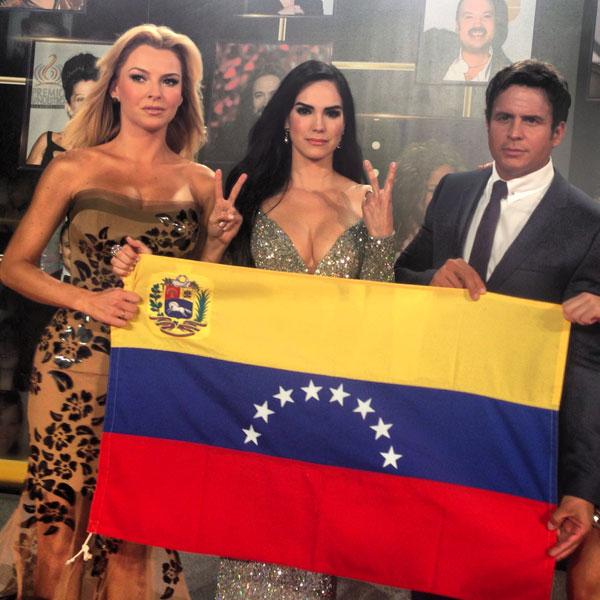 Marjorie de Sousa, Scarlet Ortiz, Yul Bürkle, redes Premio Lo Nuestro 2014