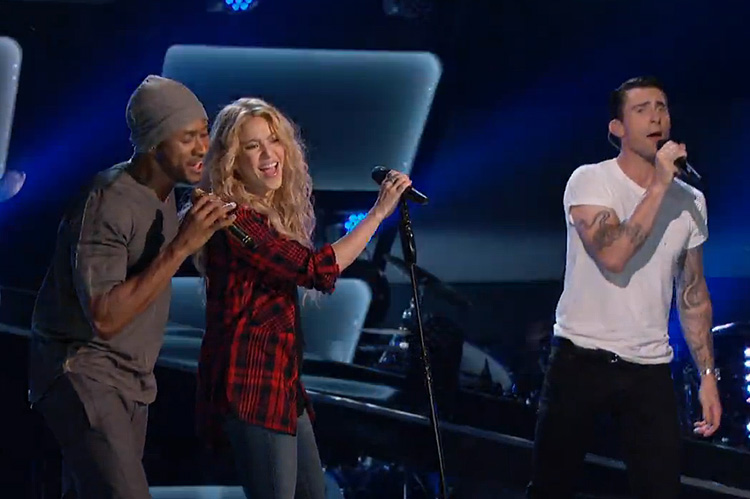 Shakira, Usher, Adam Levine, The Voice