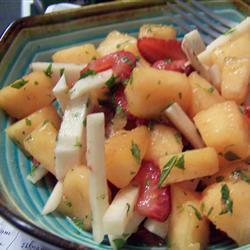 Ensalada de jícama y melón