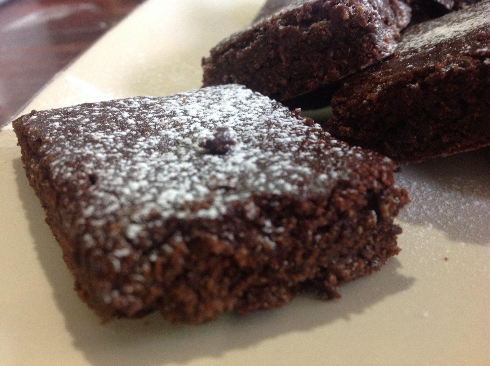 Mini brownies de chocolate
