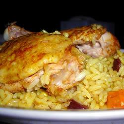 Pollo con arroz Bombay
