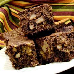 Brownies de chocolate con calabaza y nuez