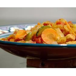 Estofado de pollo estilo Marruecos