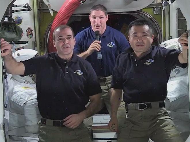 Mike Hopkins, Rick Mastracchio, Koichi Wakata