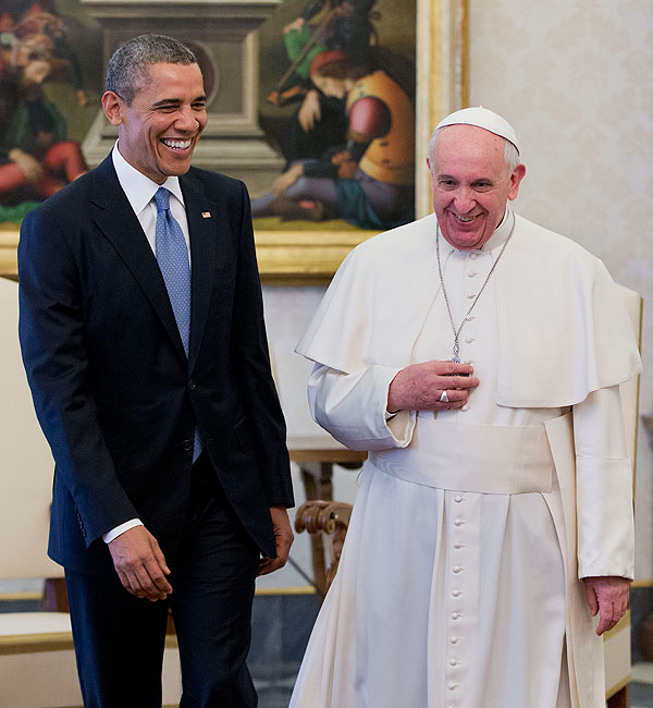 Barack Obama, Papa Francisco, Míralos