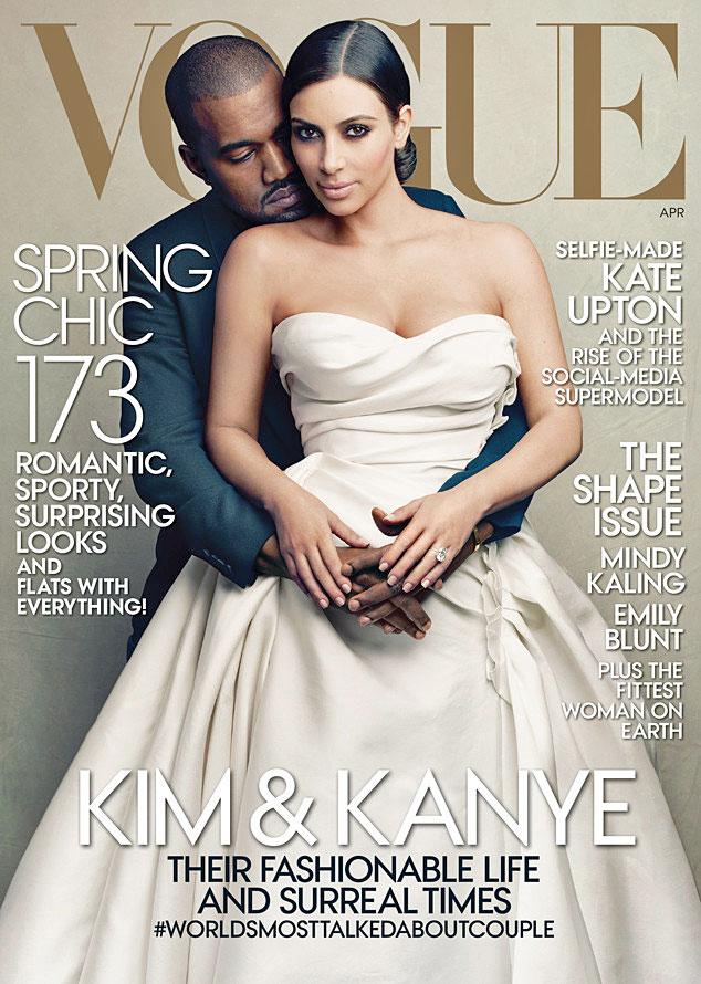 Kim Kardashian, Kanye West, portada Vogue
