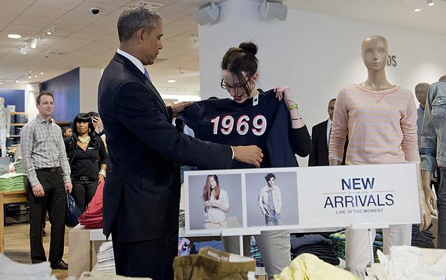 Barack Obama, compras, Gap