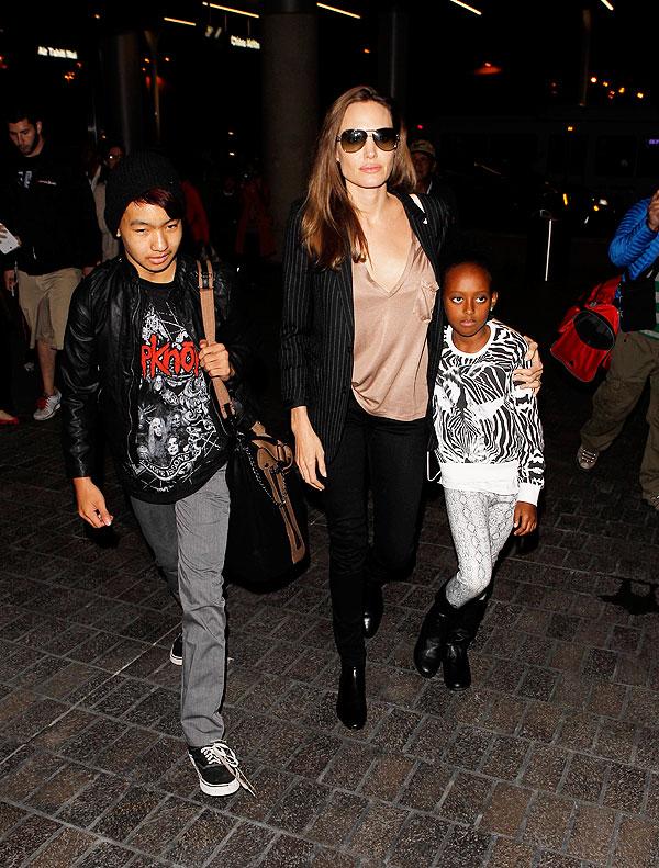 Angelina Jolie, Maddox, Zahara, Míralos