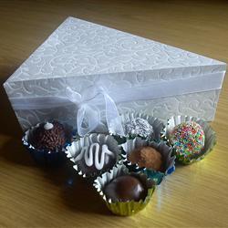 Trufas de chocolate con ron
