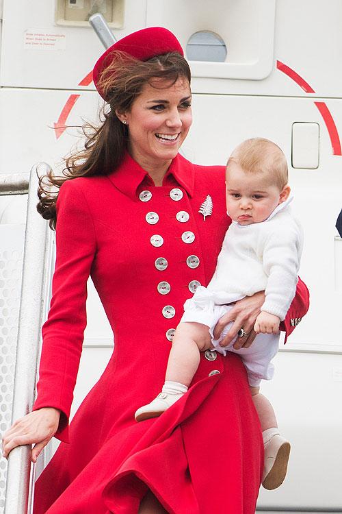 Príncipe George, Bebe real, Nueva Zelanda