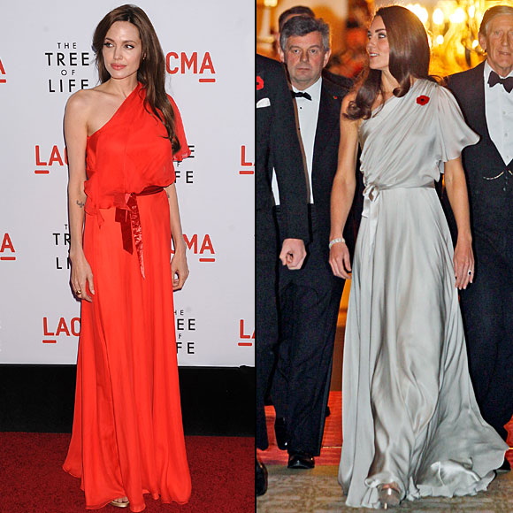 ANGELINA Jolie, KATE Middleton, Dos mujeres