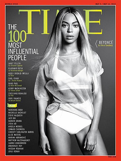 Beyoncé, 100 más influyentes del 2014, revista Time