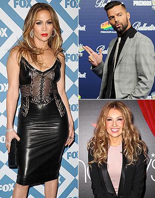 Jennifer López, Ricky Martin, Thalia