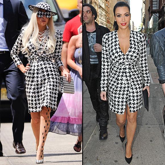 LADY GAGA, KIM Kardashian, Dos mujeres