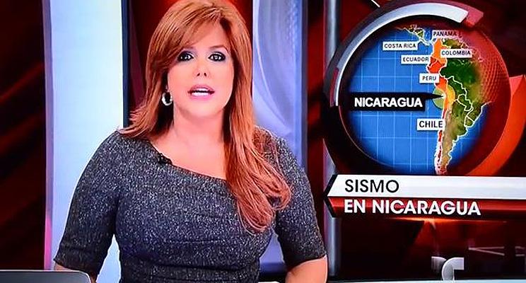 María Celeste Arrarás, Al rojo vivo, mapa, Nicaragua
