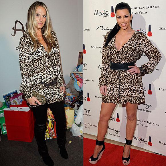 MOLLY Sims, KIM Kardashian, Dos mujeres