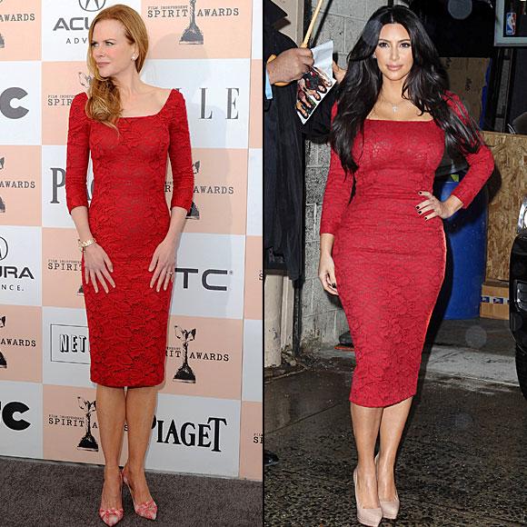 Kim Kardashian, Nicole Kidman, Dos mujeres