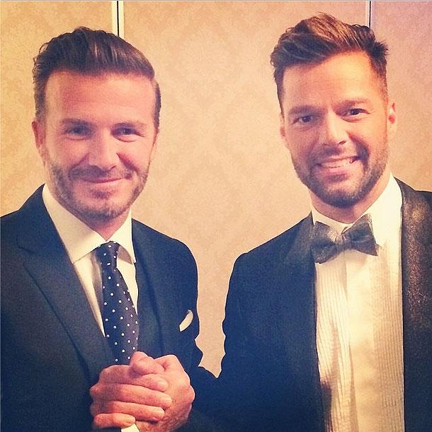 Ricky Martin, David Beckham, redes sociales